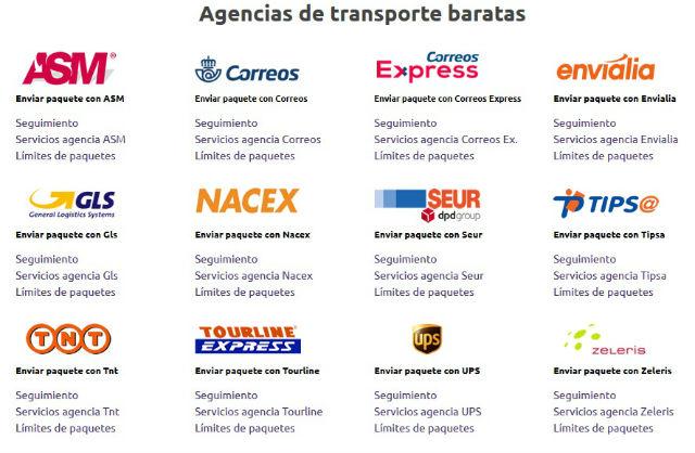 Agencias de transportes baratas con Sendiroo