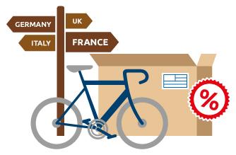 Envío de bicicletas al mejor precio