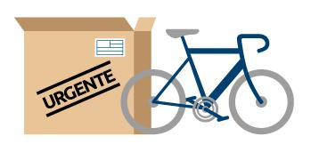 Enviar una bicicleta con un servicio urgente