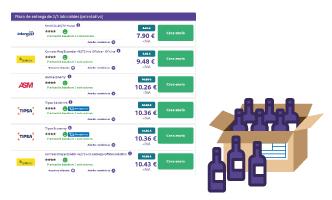 Realizar el envío de botellas con las mensajerías de Sendiroo