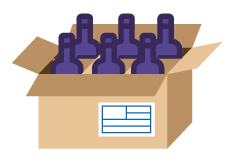 Proteger las botellas para garantizar su entrega en destino