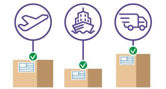 Envíos internacionales por avión, barco y carretera