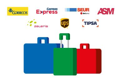 Envío de maletas a través de más de 15 agencias de transportes