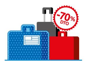 Enviar maletas con descuentos de hasta el 70%
