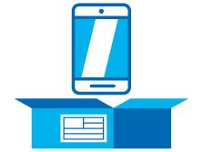 Proteger el móvil en una caja para que viaje seguro durante el envío