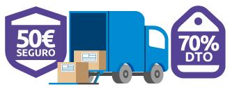Realiza el envío de paquetes grandes con descuentos de hasta el 70%