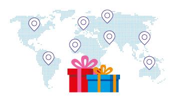 Los mejores precios para enviar regalos al extranjero