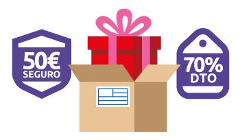 Descuentos para el envío de regalos por paquetería