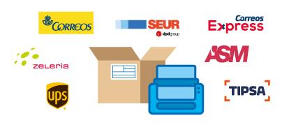 Agencias de transporte para enviar tecnología por mensajería